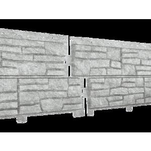 U•PLAST Фасадные панели Стоун Хаус Сланец Светло-серый