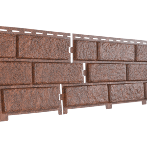U•PLAST Фасадные панели Стоун Хаус Кирпич Красный