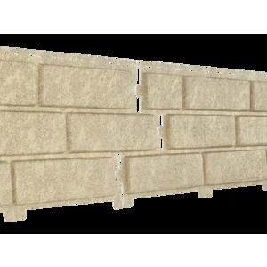 U•PLAST Фасадные панели Стоун Хаус Кирпич Песочный