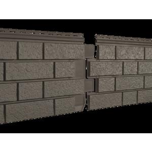 U•PLAST Фасадные панели Стоун Хаус S-Lock Клинкер Бежевый
