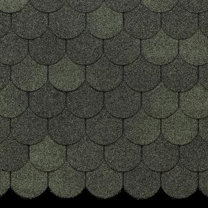 Гибкая черепица EURASIA, КАПЛЯ, Зеленый