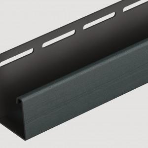 Фасадный J профиль 30 мм Графитовый