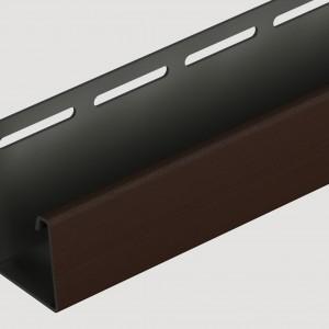 Фасадный J профиль 30 мм Шоколадный