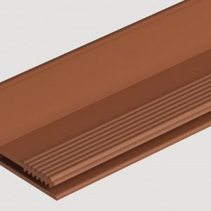 Фасадный L профиль 35 мм  Каштановый