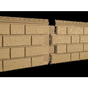 U•PLAST Фасадные панели Стоун Хаус S-Lock Клинкер Горчичный