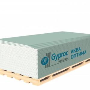 Гипсокартон GYPROC АКВА ОПТИМА 2500*1200*12,5 мм