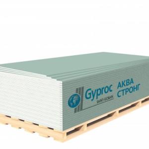 Гипсокартон GYPROC АКВА СТРОНГ 2500*1200*15 мм