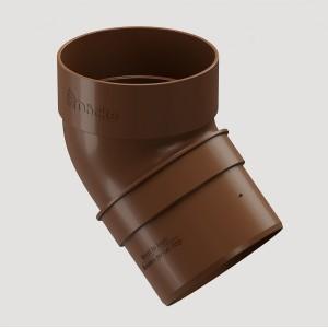 Колено 45˚,Цвет  Светло-коричневый (Ral 8017)