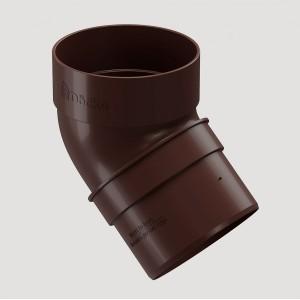 Колено 45˚,Цвет  Тёмно-коричневый (Ral 8019)