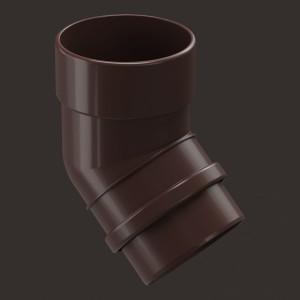 Docke LUX, Колено 45°,Цвет Шоколад (Ral 8019)