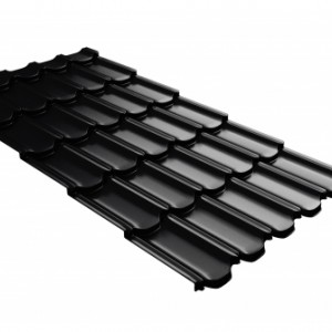 Металлочерепица Kvinta Plus 3D c 3D резом Drap RAL 9005