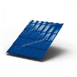 Металлочерепица МП Ламонтерра Colorcoat PrismaAtlantis Темно-синий