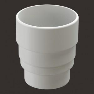 Docke LUX, Муфта-переходник LUX/PREMIUM,Цвет Пломбир (Ral 9003)