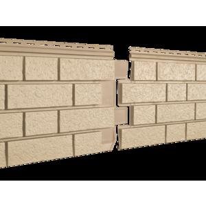 U•PLAST Фасадные панели Стоун Хаус S-Lock Клинкер Песочный