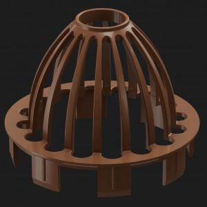 Docke PREMIUM, Сетка защитная,Цвет Каштан (Ral 8017)