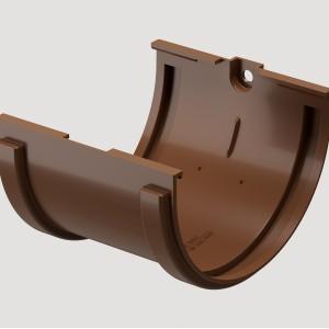 Соединитель желоба,Цвет Светло-коричневый (Ral 8017)