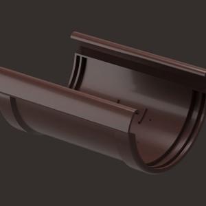 Docke PREMIUM, Соединитель желобов,Цвет Шоколад (Ral 8019)