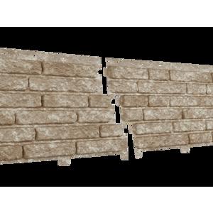 U•PLAST Фасадные панели Стоун Хаус Кварцит Светло-Бежевый