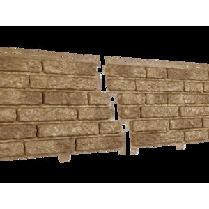 U•PLAST Фасадные панели Стоун Хаус Кварцит Темно-Бежевый