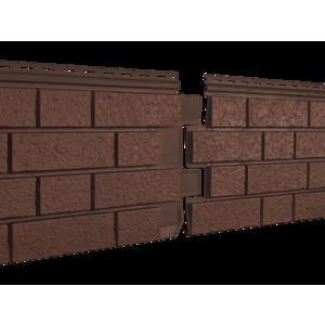 U•PLAST Фасадные панели Стоун Хаус S-Lock Клинкер Терракотовый