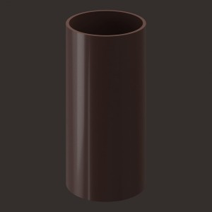Docke LUX, Труба водосточная 1 м,Цвет  Шоколад (Ral 8019)