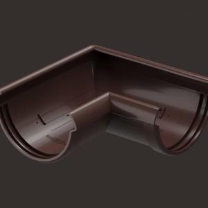 Docke LUX,  Угловой элемент 90°,Цвет Шоколад (Ral 8019)