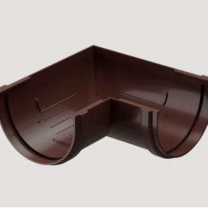 Угловой элемент 90° универсальный,Цвет  Тёмно-коричневый (Ral 8019)