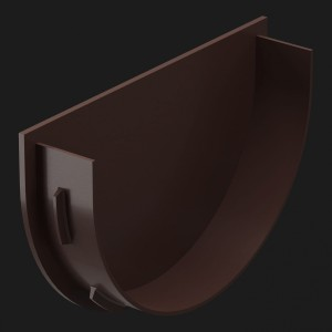 Docke PREMIUM, Заглушка воронки,Цвет Шоколад (Ral 8019)