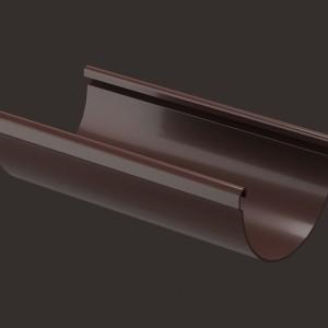 Docke LUX, Желоб водосточный 3 м,Цвет Шоколад (Ral 8019)