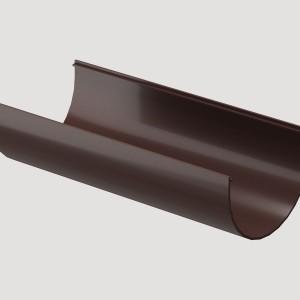 Желоб водосточный 3м,Цвет Тёмно-коричневый (Ral 8019)